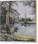 England: Salisbury Wood Print