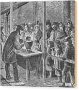 England: Soup Kitchen, 1862 Wood Print