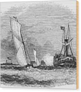 England: Yacht Race, 1843 Wood Print