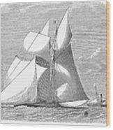 England: Yacht Race, 1868 Wood Print