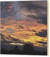 English Autumnal Sky Wood Print