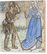 English Beggar, 1330 Wood Print