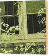 English Countryside Window Wood Print