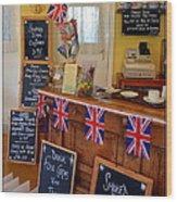 English Tearoom Wood Print