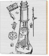 Engraving Of A Culpeper Microscope (1730) Wood Print