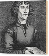 Engraving Of Nicolas Copernicus, Polish Astronomer Wood Print by Dr Jeremy Burgess