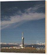 Ensign Drilling Rig 125 Wood Print