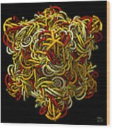 Entangled Spirals Wood Print