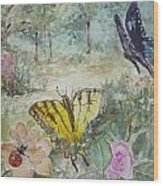 Enter The Garden Wood Print by Dorothy Herron