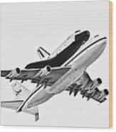 Enterprise Shuttle Ny Flyover Wood Print