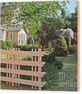 Entrance To A Victorian Garden Wood Print