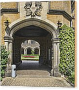 Entrance To Cecilienhof Palace Wood Print