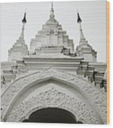 Entrance To Wat Suan Dok Wood Print