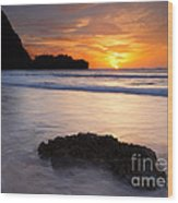 Enveloped By The Tides Wood Print by Mike  Dawson