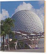 Epcot Dome Wood Print