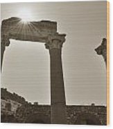 Ephesus 2011 Ad Wood Print by Terence Davis