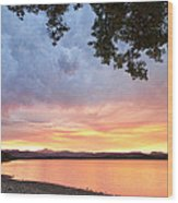 Epic August Sunset Wood Print