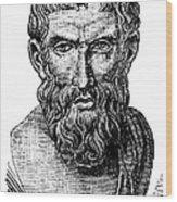 Epicurus (343?-270 B.c.) Wood Print