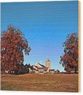 Erdenheim Farm In Autumn Wood Print