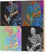 Eric Clapton Pop Wood Print