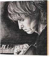 Eric Johnson Wood Print by Kathleen Kelly Thompson