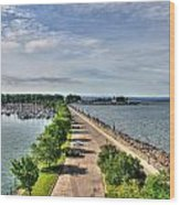 Erie Basin Marina Summer Series 0001 Wood Print