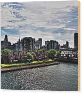 Erie Basin Marina Summer Series 0002 Wood Print
