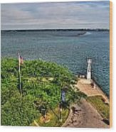 Erie Basin Marina Summer Series 0004 Wood Print