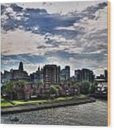Erie Basin Marina Summer Series 0005 Wood Print