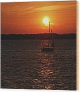 Erie Basin Sunset 3579 Wood Print