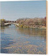 Erie Canal Panorama Wood Print