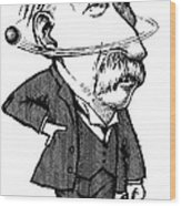 Ernest Rutherford, Caricature Wood Print by Gary Brown