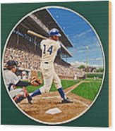 Ernie Banks Wood Print