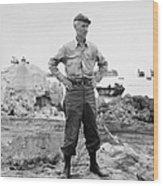 Ernie Pyle (1900-1945). American Journalist. Photograph, C1942 Wood Print