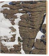 Eroded Granite Wood Print
