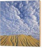 Erosion Channels On Rock, Red Deer Wood Print