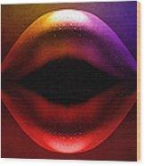 Erotic Lips Wood Print