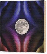 Erotic Moonlight Wood Print