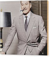 Errol Flynn, Ca. 1950s Wood Print by Everett