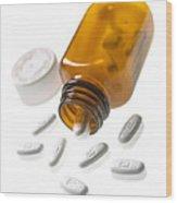 Erythromycin Antibiotic Pills Wood Print