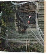 Escaping The Web Wood Print
