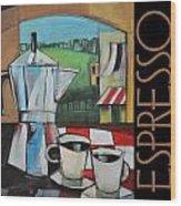 Espresso Poster Wood Print