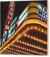 Esquire Theater Wood Print