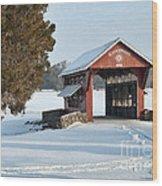 Essenhause Covered Bridge Wood Print