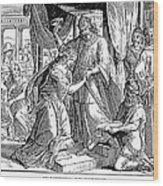 Esther & Ahasuerus Wood Print