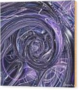 Eternal Depth Of Abstract And Chrome Fx  Wood Print