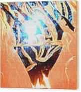 Eternal Torch Wood Print by Tyler Schmeling