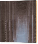 Ethereal Pier Wood Print