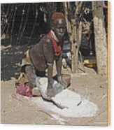 Ethiopia-south Tribesman No.1 Wood Print