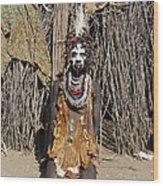 Ethiopia-south Tribesman No.2 Wood Print